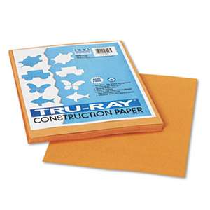 PACON CORPORATION Tru-Ray Construction Paper, 76 lbs., 9 x 12, Tan, 50 Sheets/Pack