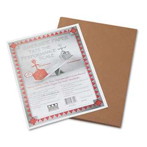 PACON CORPORATION Riverside Construction Paper, 76 lbs., 9 x 12, Brown, 50 Sheets/Pack