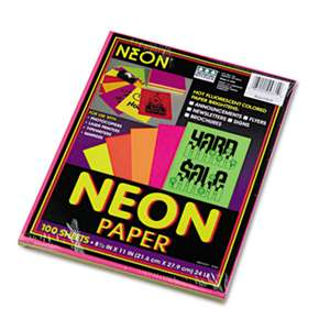 PACON CORPORATION Array Colored Bond Paper, 24lb, 8-1/2 x 11, Assorted Neon, 100 Sheets/Pack
