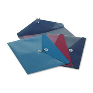 ESSELTE PENDAFLEX CORP. ViewFront Poly Booklet Envelope, Side Opening, 12 1/2 x 9 1/4, 3 Colors, 4/Pack