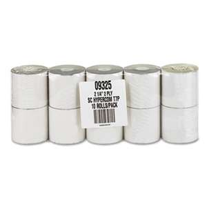 "PM COMPANY Paper Rolls, Credit Verification, 2 1/4"" x 70 ft, White/Canary, 10/Pack"