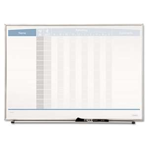 QUARTET MFG. Horizontal Matrix Employee Tracking Board, 23 x 16, Aluminum Frame