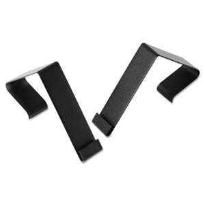 "QUARTET MFG. Cubicle Partition Hangers, 1 1/2"" - 2 1/2"" Panels, Black, 2/Set"