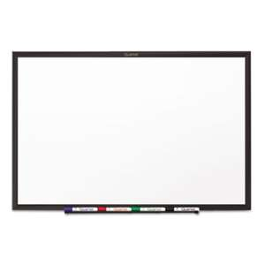 QUARTET MFG. Classic Melamine Dry Erase Board, 48 x 36, White Surface, Black Frame