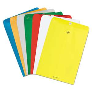 QUALITY PARK PRODUCTS Fashion Color Clasp Envelope, 9 x 12, 28lb, Yellow, 10/Pack