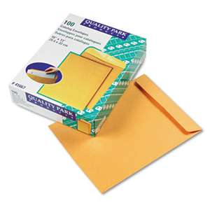 QUALITY PARK PRODUCTS Catalog Envelope, 10 x 13, Brown Kraft, 100/Box