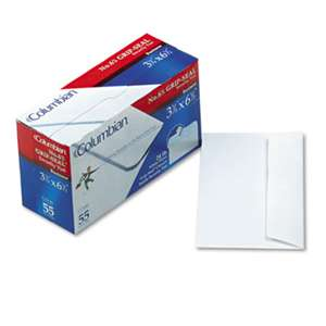 WESTVACO Grip-Seal Security Tint Business Envelopes, Side Seam, #6-3/4,White Wove, 55/Box