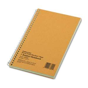 REDIFORM OFFICE PRODUCTS Subject Wirebound Notebook, Narrow Rule, 7 3/4 x 5, Green, 80 Sheets