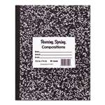 ROARING SPRING PAPER PRODUCTS Marble Cover Composition Book, Wide Rule, 9 3/4 x 7 1/2, 60 Pages