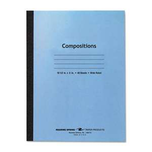 ROARING SPRING PAPER PRODUCTS Stitched Composition Book, Legal Rule, 8 x 10 1/2, WE, 48 Pages