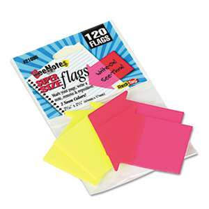 REDI-TAG CORPORATION SeeNotes Transparent-Film Arrow Page Flags, Neon Assorted, 60/Pad, 2 Pads