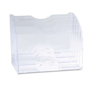 Rubbermaid 94610ROS Two-Way Organizer, Five Sections, Plastic, 8 3/4 x 10 3/8 x 13 5/8, Clear