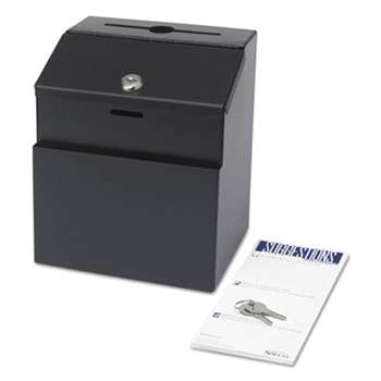 SAFCO PRODUCTS Steel Suggestion/Key Drop Box with Locking Top, 7 x 6 x 8 1/2