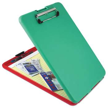 "SAUNDERS MFG. CO., INC. SlimMate Show2Know Safety Organizer, 1/2"" Clip Cap, 9 x 11 3/4 Sheets, Red/Green"