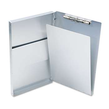 "SAUNDERS MFG. CO., INC. Snapak Aluminum Side-Open Forms Folder, 1/2"" Clip, 8 1/2 x 14 Sheets, Silver"