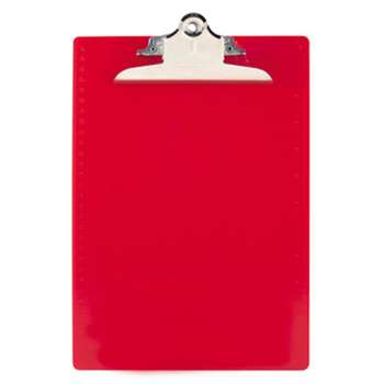 "SAUNDERS MFG. CO., INC. Recycled Plastic Clipboards, 1"" Clip Cap, 8 1/2 x 12 Sheets, Red"
