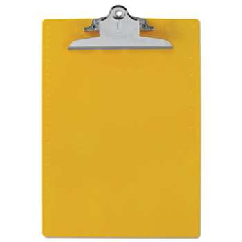 "SAUNDERS MFG. CO., INC. Recycled Plastic Clipboards, 1"" Clip Cap, 8 1/2 x 12 Sheets, Yellow"