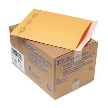 ANLE PAPER/SEALED AIR CORP. Jiffylite Self-Seal Mailer, Side Seam, #4, 9 1/2x14 1/2, Gold Brown, 25/Carton