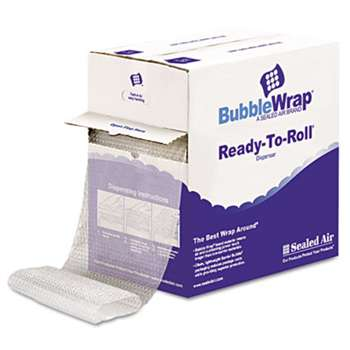 "ANLE PAPER/SEALED AIR CORP. Bubble Wrap? Cushion Bubble Roll, 1/2"" Thick, 12"" x 65ft"