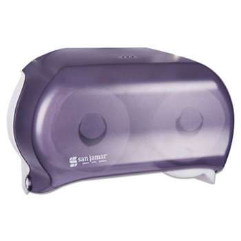 THE COLMAN GROUP, INC VersaTwin Tissue Dispenser, 8 x 5 3/4 x 12 3/4, Transparent Black Pearl
