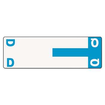 SMEAD MANUFACTURING CO. Alpha-Z Color-Coded First Letter Name Labels, D & Q, Light Blue, 100/Pack