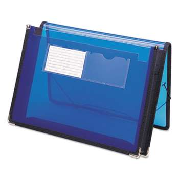 "SMEAD MANUFACTURING CO. 2"" Exp Ultracolor Wallet, Poly, Letter, Translucent Blue"
