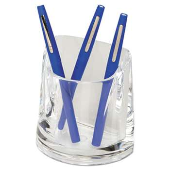 ACCO BRANDS, INC. Stratus Acrylic Pen Cup, 4 1/2 x 2 3/4 x 4 1/4, Clear