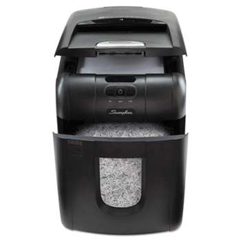 ACCO BRANDS, INC. Stack-and-Shred 100M Auto Feed Micro-Cut Shredder, 100 Sheet Capacity