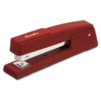 ACCO BRANDS, INC. 747 Classic Full Strip Stapler, 20-Sheet Capacity, Lipstick Red