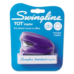 ACCO BRANDS, INC. TOT Mini Stapler, 12-Sheet Capacity, Purple