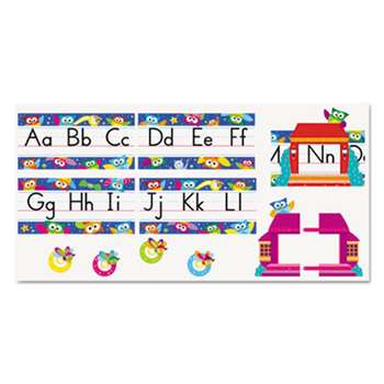 TREND ENTERPRISES, INC. Owl Stars Alphabet Line Bulletin Board Set, 12 3/4 x 8 1/2, 29 pieces