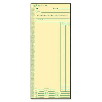 TOPS BUSINESS FORMS Acroprint/Amano/Cincinnati/Lathem Time Card, Weekly, 3 3/8 x 8 1/4, 500/Box