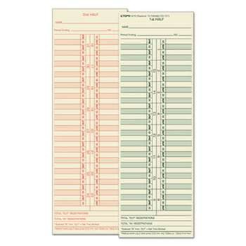 TOPS BUSINESS FORMS Time Card for Cincinnati/Lathem/Simplex/Acroprint, Semi-Monthly, 500/Box