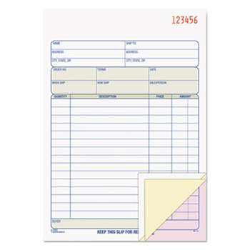 TOPS BUSINESS FORMS Sales Order Book, 5-9/16 x 7-15/16, Three-Part Carbonless, 50 Sets/Book