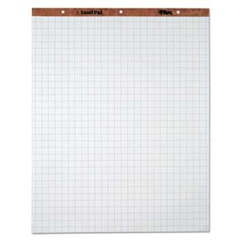 TOPS BUSINESS FORMS Easel Pads, Quadrille Rule, 27 x 34, White, 50 Sheets, 4 Pads/Carton