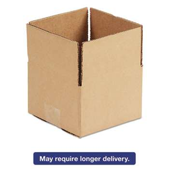 GENERAL SUPPLY Brown Corrugated - Fixed-Depth Shipping Boxes, 6l x 4w x 4h, 25/Bundle