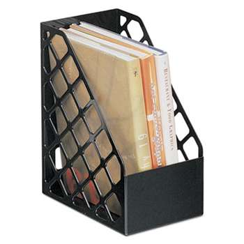 UNIVERSAL OFFICE PRODUCTS Recycled Plastic Large Magazine File, 6 1/4 x 9 1/2 x 11 3/4, Black
