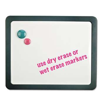 UNIVERSAL OFFICE PRODUCTS Recycled Cubicle Dry Erase Board, 15 7/8 x 12 7/8, Charcoal, with Three Magnets
