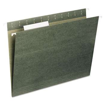 UNIVERSAL OFFICE PRODUCTS Hanging File Folders, 1/5 Tab, 11 Point Stock, Legal, Standard Green, 25/Box