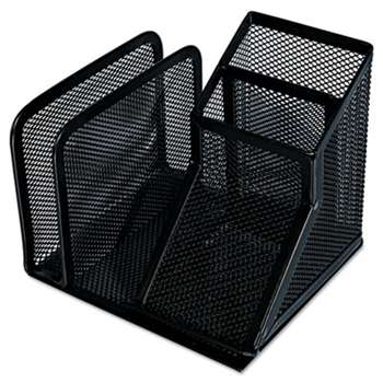 UNIVERSAL OFFICE PRODUCTS Mesh Desk Organizer, Black