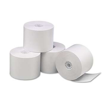 "UNIVERSAL OFFICE PRODUCTS Single-Ply Thermal Paper Rolls, 2 1/4"" x 85 ft, White, 3/Pack"