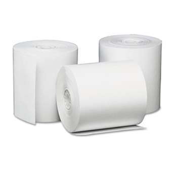 "UNIVERSAL OFFICE PRODUCTS Single-Ply Thermal Paper Rolls, 3 1/8"" x 230 ft, White, 50/Carton"