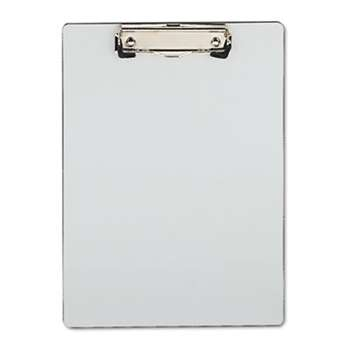 "UNIVERSAL OFFICE PRODUCTS Plastic Brushed Aluminum Clipboard, Portrait, 1/2"" Capacity, 8 1/2 x 11"