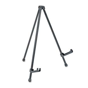 "UNIVERSAL OFFICE PRODUCTS Portable Tabletop Easel, 14"" High, Steel, Black"