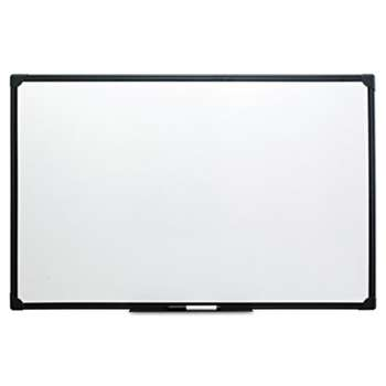 UNIVERSAL OFFICE PRODUCTS Dry Erase Board, Melamine, 36 x 24, Black Frame
