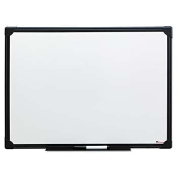 UNIVERSAL OFFICE PRODUCTS Dry Erase Board, Melamine, 24 x 18, Black Frame
