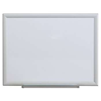 UNIVERSAL OFFICE PRODUCTS Dry Erase Board, Melamine, 24 x 18, Aluminum Frame