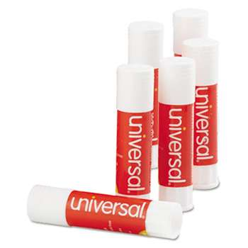 UNIVERSAL OFFICE PRODUCTS Glue Stick, .28 oz, Stick, Clear, 12/Pack