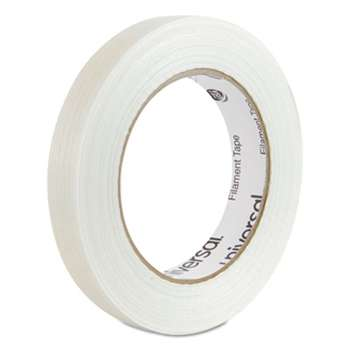 "UNIVERSAL OFFICE PRODUCTS 165# Medium Grade Filament Tape, 18mm x 54.8m, 3"" Core, Clear"