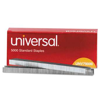 UNIVERSAL OFFICE PRODUCTS Standard Chisel Point 210 Strip Count Staples, 5,000/Box